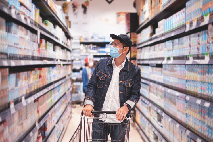 Man standing at store