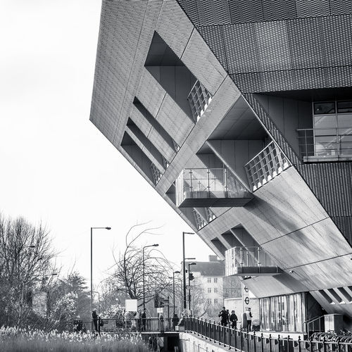 Architecture shot of Canada Water Library ,using black and white filter Architecture Black And White Blackandwhite Building Building Exterior Built Structure Canada Water City City Life Day London Low Angle View Modern Outdoors