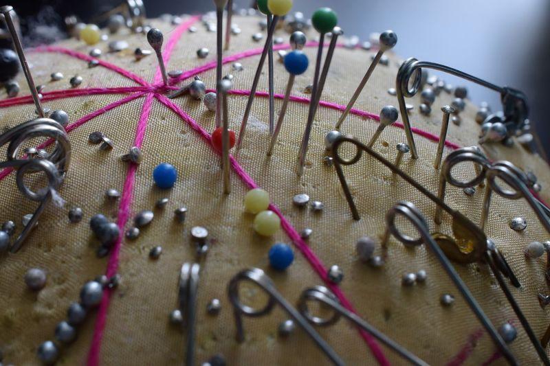 Close-up of pin cushion
