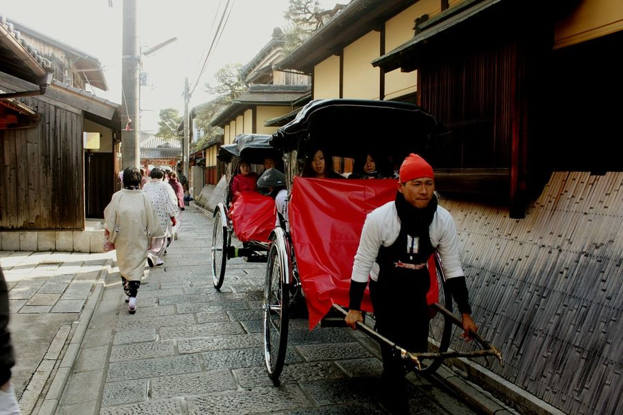 Japan Kyoto The Street Photographer - 2015 EyeEm AwardsWheels On The Move Popular Photos Street Photography People Public Transportation Japanese Tradition traveling, red