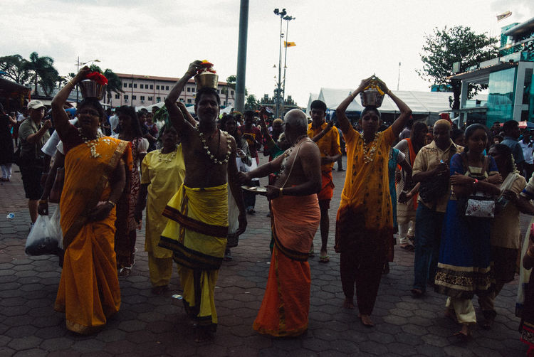 Walking to the entrance Composition Front View Full Length Hindu Hindu Culture Hindu Festival Hindu Gods Hindu Temple Hinduism Perspective Portrait Real People Standing Thaipusam Thaipusam2016 Togetherness Women Young Adult Young Women