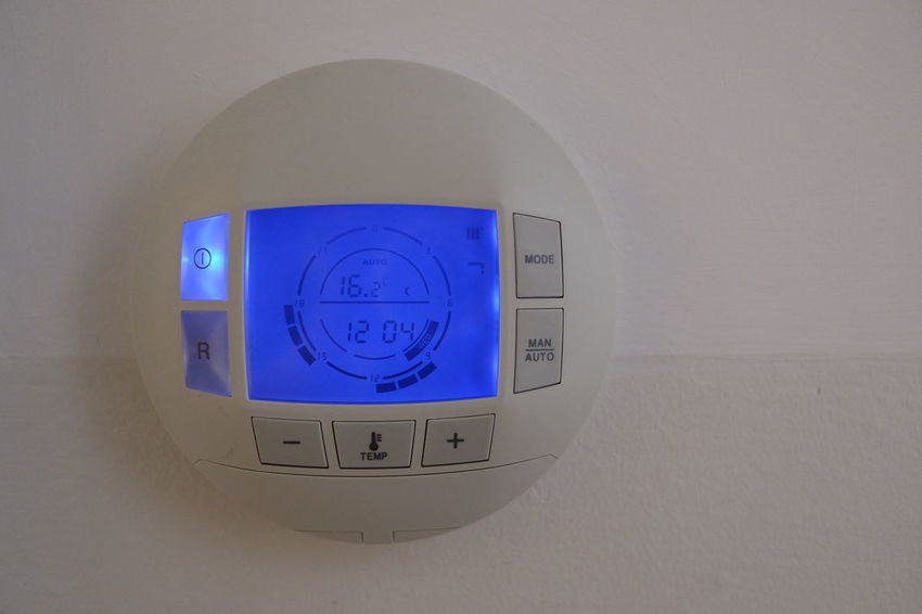 Modern New Tecnology Close-up Control Control Panel Day Digital Display Equipment Indoors  No People Programmable Round System Technology Thermostat