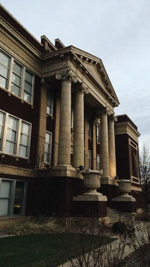Architecture Architectural Column Building Exterior Built Structure History Sky Outdoors Low Angle View Day No People