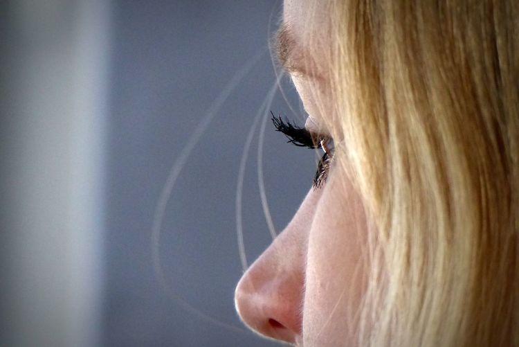 Close-up of woman face