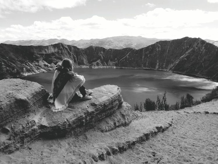 We walked all the way down to the lake into crater. The hike wasn't to accomplish until we had to go back. As the crater is located very high (3914m) it was very exhausting to get up the mountain. Hike Volcano Hike Quilotoa Laguna Quilotoa Craterlake Caldera Volcano Mountain_collection Black & White Capture The Moment My Year My View