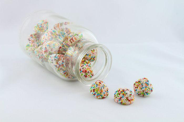 Bonbons Sweets Bonbonniere Bonbonglas Bunt High Key Rainbow
