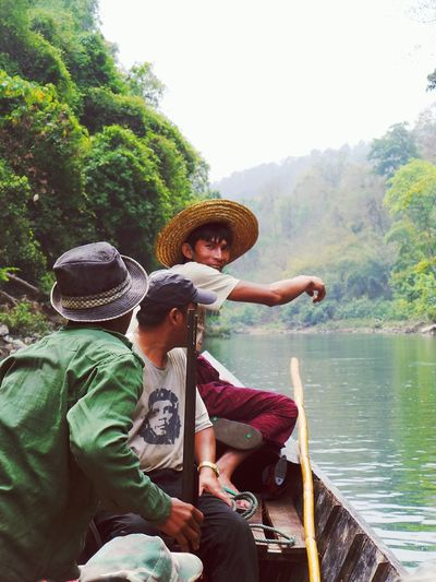 Crossing the river with some military assistance. Cowboy Hat Outdoors River Crossing Jungle Trekking Jungle Myanmar Military