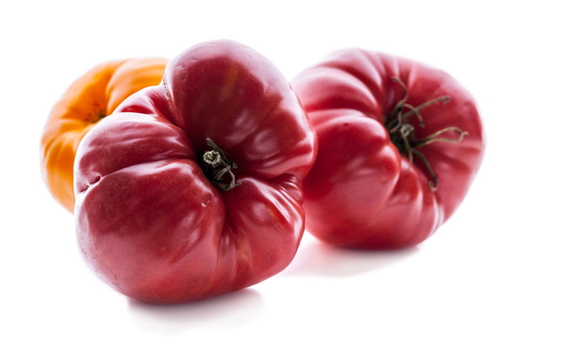 Red tomatoes on