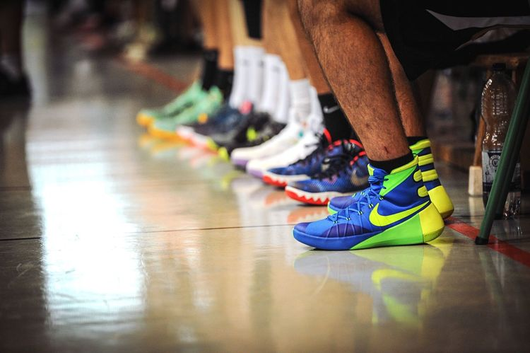 The Color Of Sport Baskets Limburg first team awaiting to start a friendly, home game Basketball Germany Deutschland Sport Nike Nike✔
