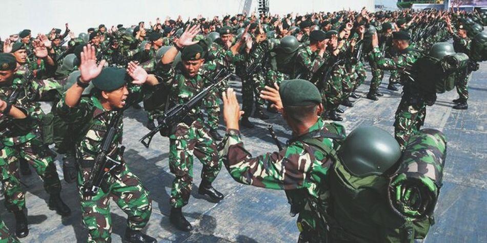 Military Police Force Military Uniform INDONESIA Kalbar Pontianak City TNI_AD TNI Tnipolri Policeman 😉 Army Army Soldier Army National Guard
