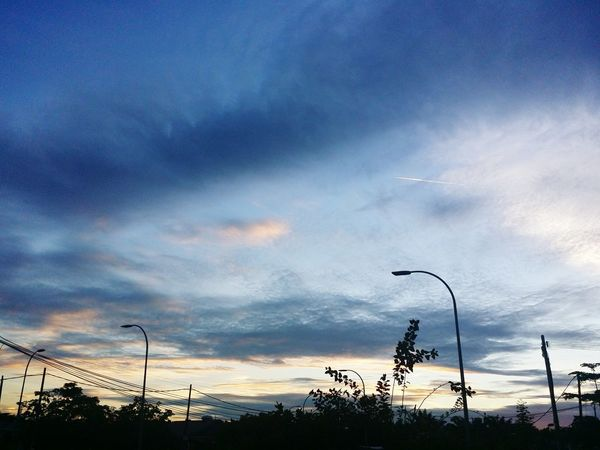 Moment before sunset Blue Sky Colorful Colourful View Tree Blue Sky Cloud - Sky Dramatic Sky Silhouette Romantic Sky Tranquil Scene Sunset EyeEmNewHere