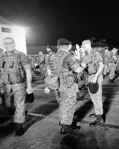 Elation Bnwphotography Bnwstreetphotography Bnwsingapore Graduates Basic Military Training Streetphotography Sg_streetphotography Sembawang Camp Soldiers 7 Sept 2017 Singapore