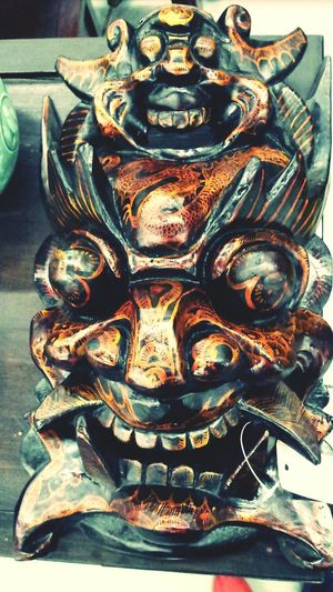 Antique Shopping Face Mask Oriental