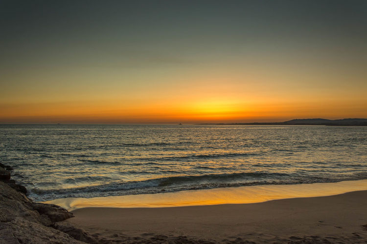 Beach Beauty In Nature Clear Sky Costadecaparica Day Horizon Over Water Nature No People Outdoors Sand Scenics Sea Sky Sunset Tide Tranquil Scene Tranquility Travel Destinations Water Wave
