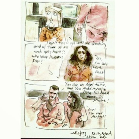 the Sexbag ! XD Misfits Doodle Watercolor storyboard