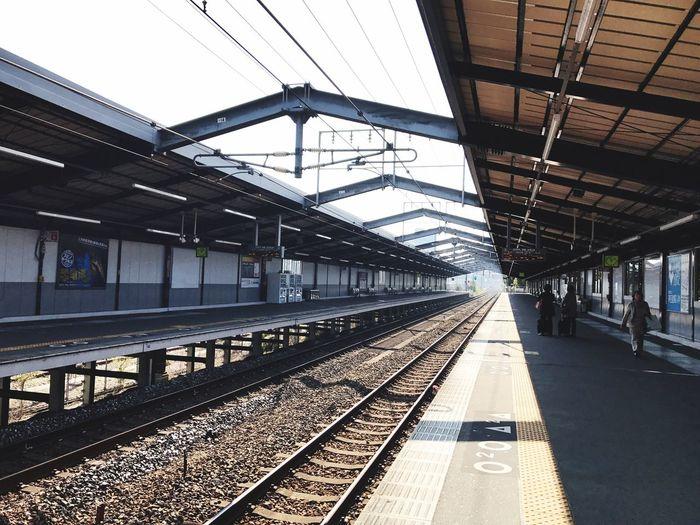 Railroad Station Platform Railroad Station Railroad Track Day Public Transportation Rail Transportation Transportation Osaka Castle Station Japan OSAKA Osaka Castle