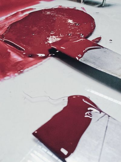 RED! Yes, I love red! Red Red Color Red Paint Art And Craft