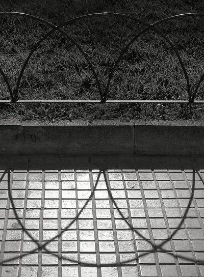 Shadows & Lights Urban Geometry Shapes , Lines , Forms & Composition Outdoor Photography Walking Around Taking Pictures Geometric Shadows No People Grass And City Blackandwhite Photography