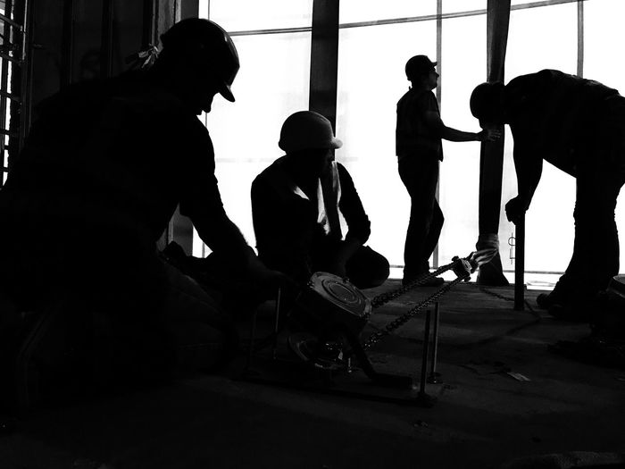 All in a day's work Silhouette Manual Worker Real People Iampindot Hardhat  Kuwaitstreetphotography