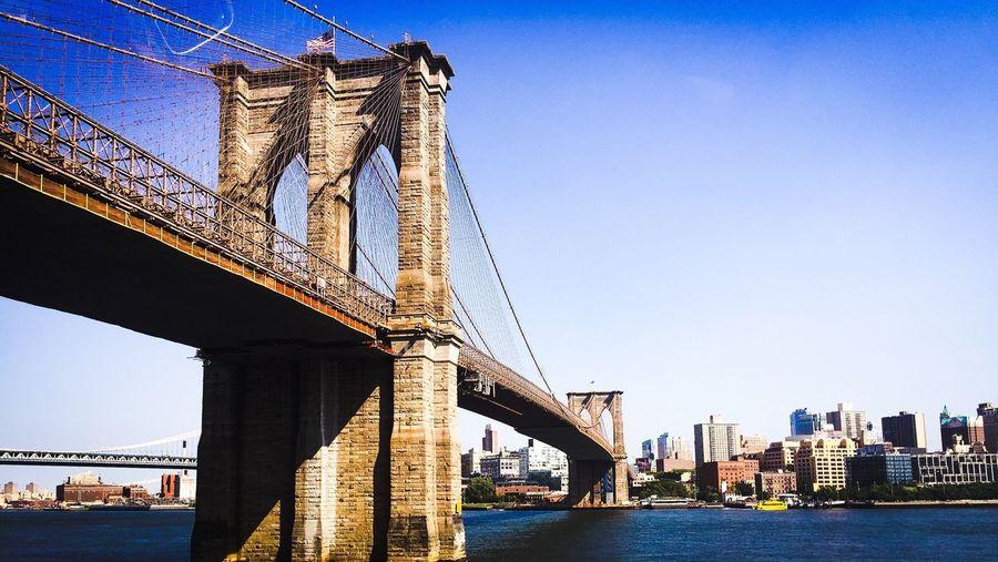 Holiday snap from my USA tour Brooklyn Bridge  New York Manhattan First Eyeem Photo