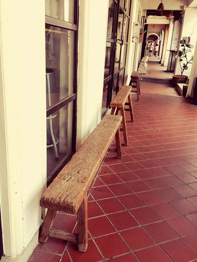 Cafe Nolstagic Benches Wood Brown Walkway Outdoorphotography Outdoor Tiles Textures Wooden Texture
