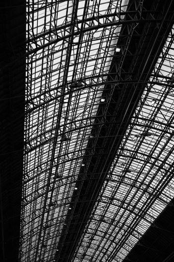 EyeEm Selects EyeEmNewHere Black And White Friday Blackandwhite Indoors  Pattern Day Architecture No People Low Angle View Budapest Hungary Ceiling Roof Trainstation The Graphic City The Architect - 2018 EyeEm Awards HUAWEI Photo Award: After Dark