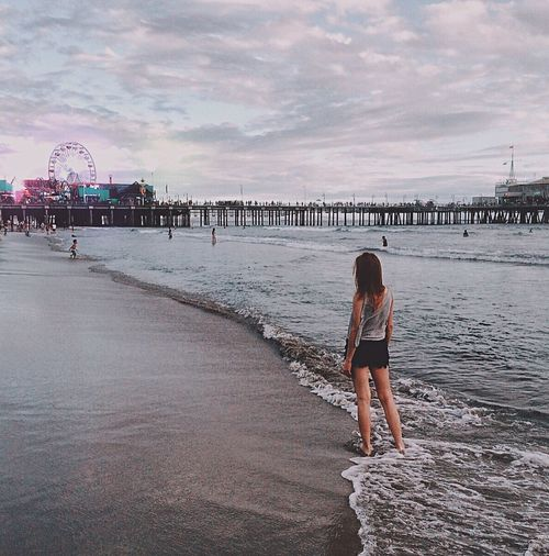 Water Sky Colors Cloud - Sky Clouds And Sky Riesenrad Santa Monica Pier Santa Monica Losangeles Los Angeles, California Cali I See You Beauty In Nature Evening Sky Morze Am Meer Meer Magical Places Magical Moments Beautiful Nature Zajebiscie Goals Pier