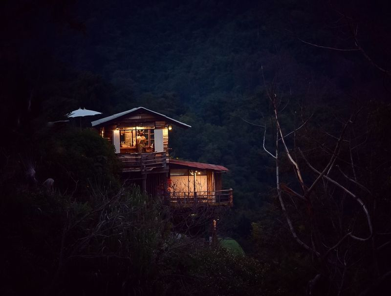 Architecture Built Structure Night Illuminated Building Exterior No People Nature Outdoors House Land Scenics - Nature Plant Tree Building Dark Lighting Equipment Growth