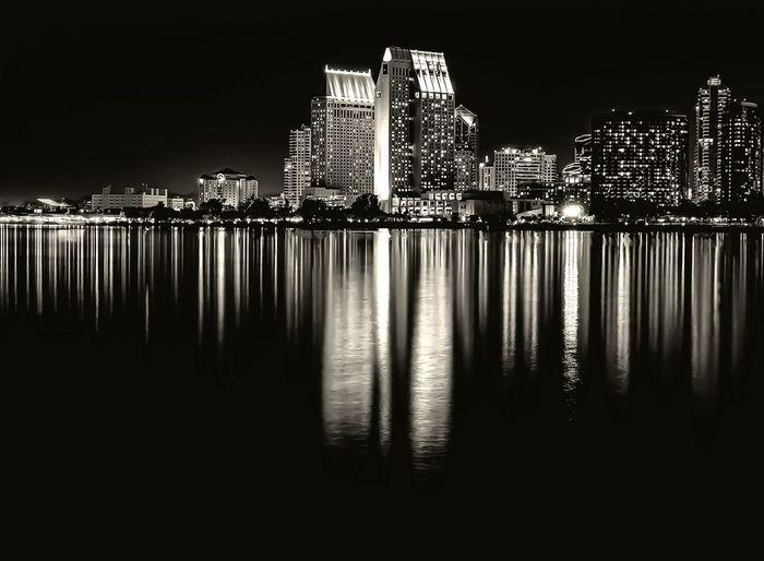 San Diego skyline. San Diego Cityscapes Blackandwhite