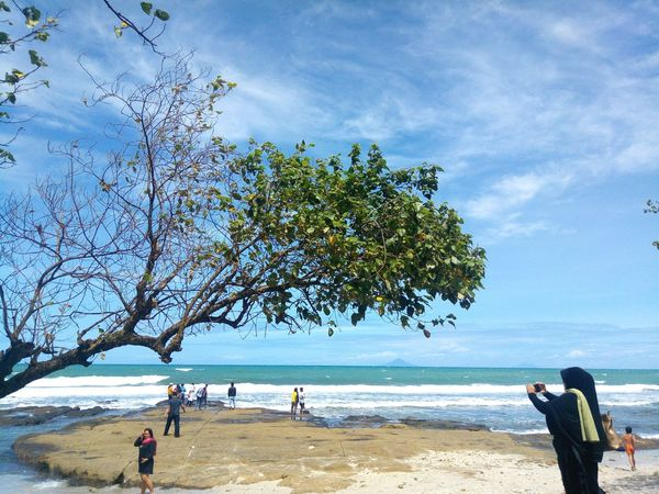 Sea Beach Tree Nature Outdoors Beauty In Nature Sky Vacations People Traveling INDONESIA Zenphone Photography Photography PhonePhotography