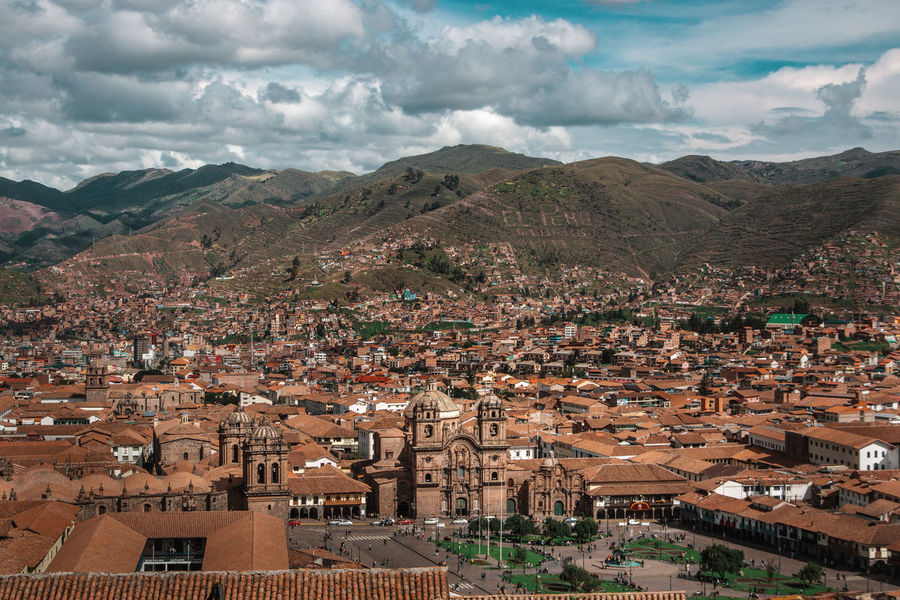 The beautiful view over Cusco. Andes Backpacking Cathedral City Cityscape Exploring Inca Latin America Square Architecture Built Structure Colonial Day Discover  High Angle View Historic Mountain Range Nature Outdoors Park Residential District South America Town Travel Destinations Urban The Great Outdoors - 2018 EyeEm Awards The Traveler - 2018 EyeEm Awards
