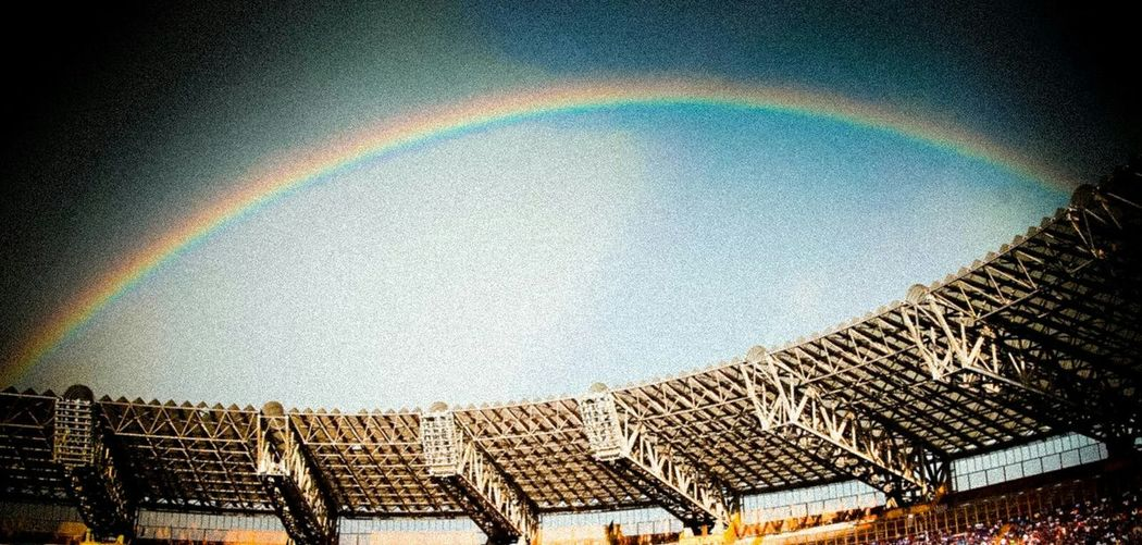 StadioSanPaolo San Paolo Rainbow After The Rain Onlyinnapoli Happiness Life Check This Out MyCity❤️ Visitnaples Naples, Italy Visityourowncity Napoli ❤ Napoli Happy Love ♥ City First Eyeem Photo Playngfootball Soccer