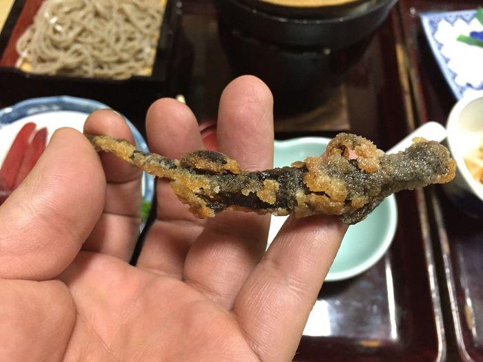 Fried salamander 山椒魚の唐揚げ