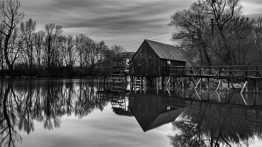 black & white Mill Architecture Sunset Country Nature Nature Photography