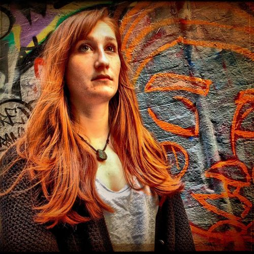 Melbourne Graffiti Spraypaint Female Portrait Street Art Color Portrait The Portraitist - 2015 EyeEm Awards Ipadphotography Up Close Street Photography