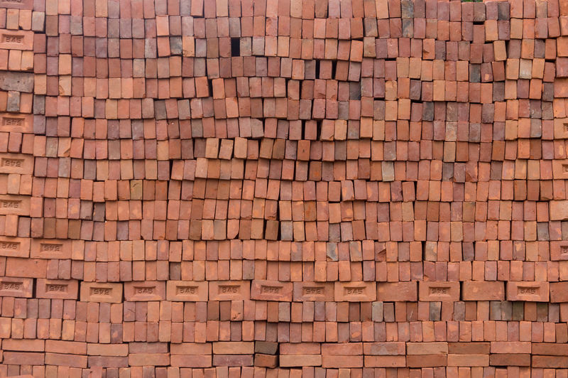 Full Frame Pattern Backgrounds Architecture Built Structure Brown Building Exterior Roof Repetition No People Brick Day Large Group Of Objects Roof Tile Textured  In A Row Abundance Tile Wall - Building Feature Outdoors