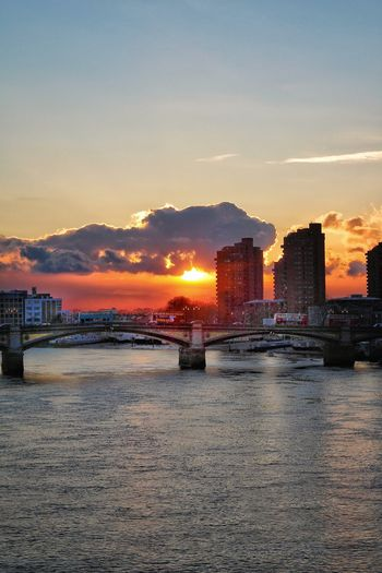 """Friday"" Sunset_collection Sunset River Watter_collection Watter Water Bridge Architecture Thames Thames River London"
