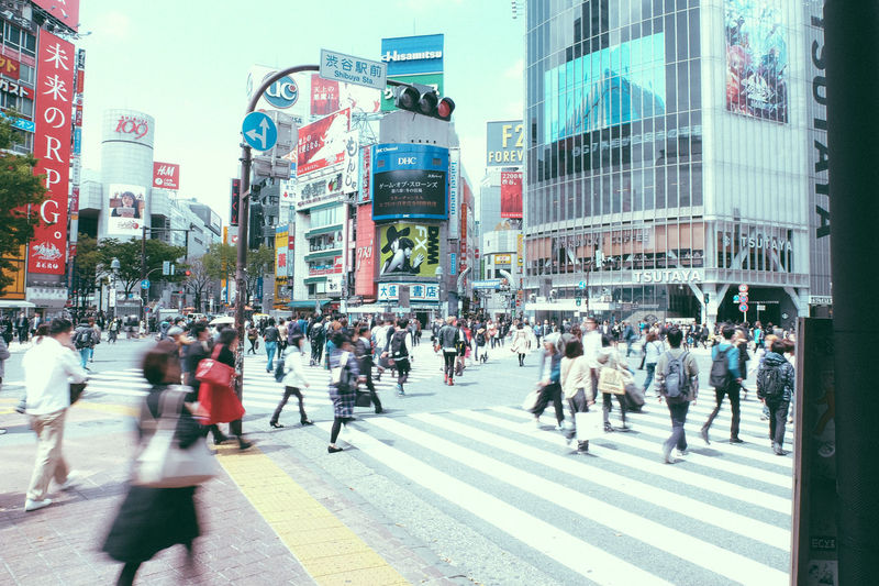 Architecture Building Exterior Built Structure Busy City City City Life City Street Cityscapes Crossing Crowd Japan Japanese  Japanese Culture Land Vehicle Mode Of Transport Motion Pedestrian Road Shibuya Shibuya Crossing Street Streetphotography Tokyo Walking