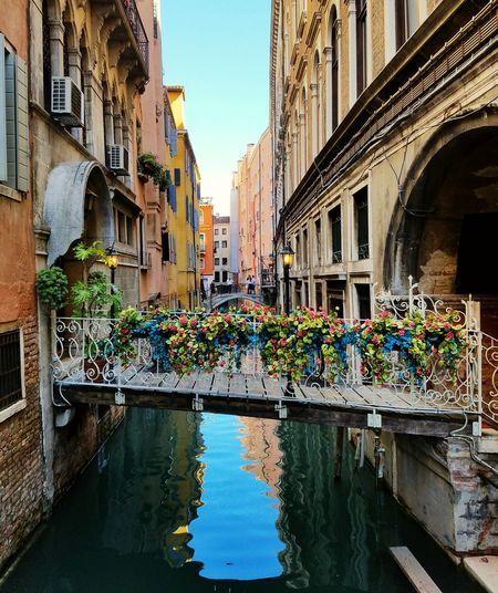 Architecture Travel Destinations Waterfront Canal Venice Back Street Architecture Bridge Building Exterior Built Structure Tranquil Scene My Year My View Neighborhood Map Venice, Italy Lost In The Landscape