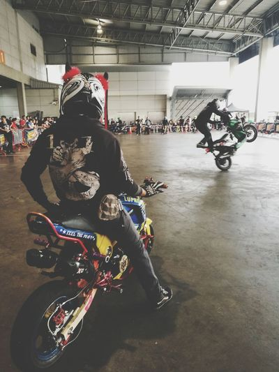 It time. Stuntshow Stuntman Stunt Flying Indoors  Motorcycle Bigbike Bigbikethailand Bigbikes Superbikes Superbikes2017