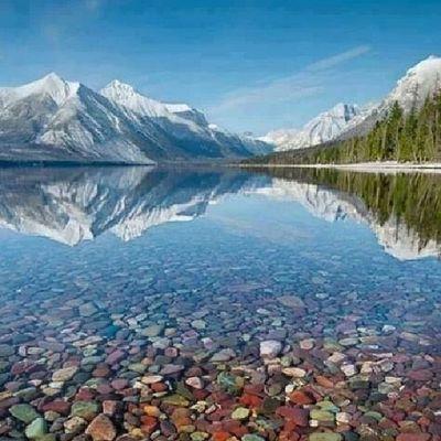 #Lake #Mcdonald #water #Montana #mountain Water Lake Mountain Montana McDonald