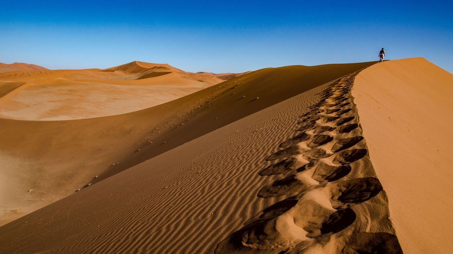 Dune 52 Desert Arid Climate Sand Landscape Sand Dune Tranquil Scene Nature Scenics Clear Sky Tranquility Non-urban Scene Outdoors Day Sunlight Physical Geography Beauty In Nature Extreme Terrain Environment Sky No People Namibia Namib Desert Sossusvlei Sossusvlei Desert - Namibia