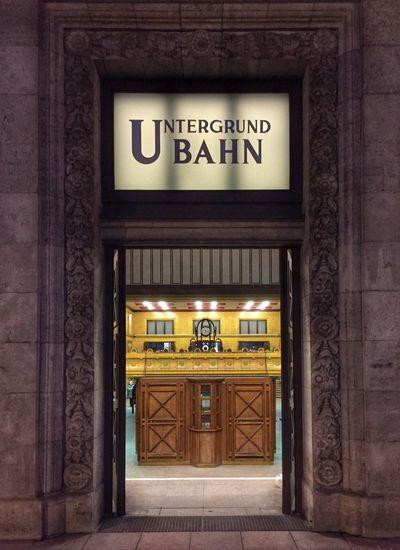 Ubahn Berlin Ubahn Entrance Door