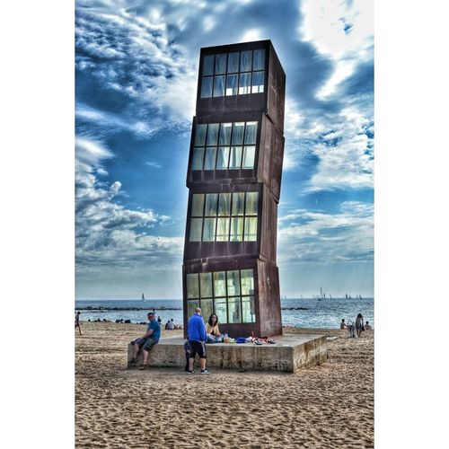 playa de la barceloneta ( Barcelona, spsin) Sea Enjoying The Sun Relaxing Swimming