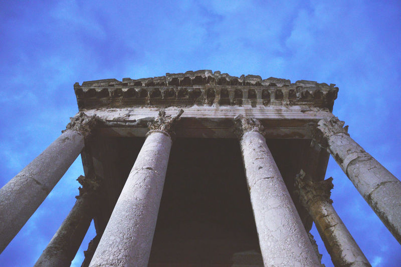 Ancient Ancient Ancient Architecture Ancient Civilization Ancient Ruins Archaeology Architectural Column Architecture Built Structure Croatia Damaged History Istra Istria Itlay Low Angle View Old Ruin Outdoors Pula Roma Sky The Past Tourism Travel Destinations Weathered