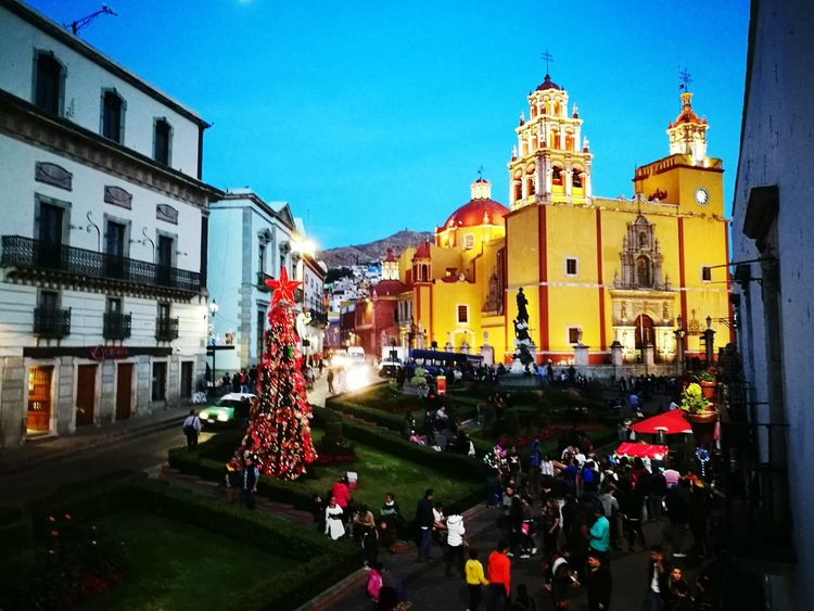downtown #mexico #guanajuato Travel Destinations People Tree Clear Sky