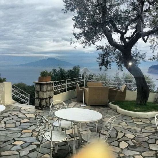 Tree Nature Table No People Outdoors Day Water Beauty In Nature Sky Patio View Sorrentocoast Dream Patio Scenics Nature Vacations Beauty In Nature Cloud - Sky Outside