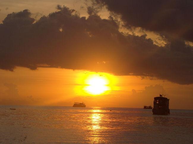 43 Golden Moments Horizon Over Water Nature Orange Color Sea Sun Sunset Thailand Water
