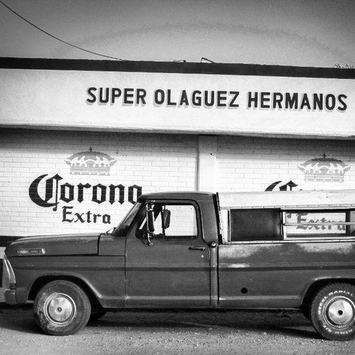 China ates, Durango, Mexico Chinacates Corona Extra Store truck old b&w mexico durango