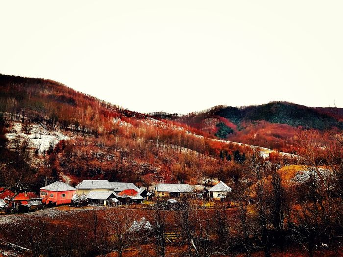 Village view. Ștei, Hateg County, Hunedoara Hateggeoparc Unescogeoparks Colors Beautifulvillage Countryside EyeEm Best Shots Forest Forest Photography Forestwalk HuaweiP10 Hill Sky Outdoors Nature No People Agriculture Landscape Day Beauty In Nature Shades Of Winter EyeEmNewHere An Eye For Travel